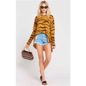 Show Me Your Mumu Great Tiger Knit Bonfire Sweater